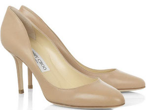Can I wear cream / beige color shoes with a cream & black color dress to a wedding?